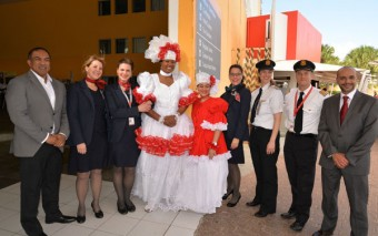 Air Canada inaugural flight from Montreal, Canada to Curaçao